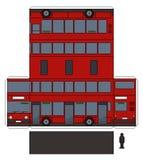 O modelo de papel de um ônibus de dois andares vermelho ilustração do vetor