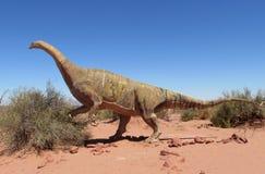 O modelo de um dinossauro imagens de stock
