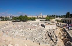 O modelo do Jerusalém no segundo período do templo fotografia de stock royalty free