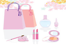 O modo cor-de-rosa ilustração stock