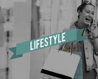 O modo de vida da cultura do estilo de vida interessa o conceito dos hábitos da paixão Fotografia de Stock