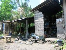 O modo de vida e o ambiente de indonésios pobres fotos de stock