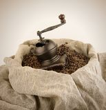 O moedor de café manual Imagens de Stock