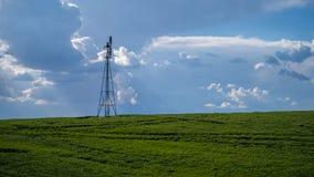 O moinho de vento bombeia a água no Palouse Fotografia de Stock Royalty Free