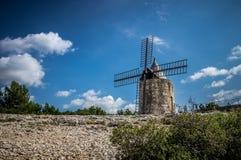 O moinho de vento de Daudet - Fontvielle (França) Foto de Stock