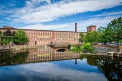 O moinho histórico de Cocheco, em Dôvar, New Hampshire imagem de stock royalty free
