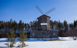 O moinho velho nas madeiras Foto de Stock Royalty Free