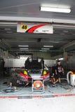 O Mola Nissan 46 team a garagem, SuperGT 2010 Imagens de Stock