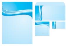 O molde com espaço em branco, nota, cartão e envolve Fotografia de Stock Royalty Free