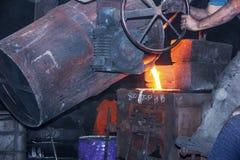 O molde da carcaça é uma fabricação Queda de derretimento ao molde foto de stock