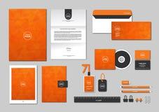 O molde da identidade corporativa para seu negócio inclui a tampa do CD, Imagens de Stock