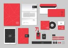 O molde da identidade corporativa para seu negócio inclui a tampa do CD, Imagem de Stock