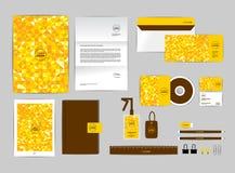 O molde da identidade corporativa para seu negócio inclui a tampa do CD Fotos de Stock