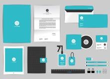 O molde da identidade corporativa para seu negócio inclui a tampa do CD Imagem de Stock Royalty Free