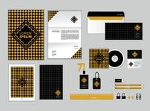 O molde da identidade corporativa para seu negócio inclui a tampa do CD Imagens de Stock