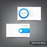 O molde do cartão ajustou 028 overlab azul e cinzento da camada Fotos de Stock