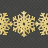 O molde do cartão de Natal com os flocos de neve de brilho do ouro cobre o objeto Eps 10 ilustração do vetor