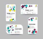 O molde do cartão para substitui o nome com o conceito do mosaico Vec Imagem de Stock