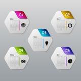 O molde do espaço temporal de Infographic pode ser usado para a carta, diagrama, design web, apresentação, anunciando Imagem de Stock Royalty Free