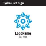 O molde do logotipo para uma empresa contratou na hidráulica Fotos de Stock Royalty Free