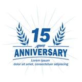 15o molde do projeto do aniversário 15os vetor e ilustração dos anos ilustração do vetor