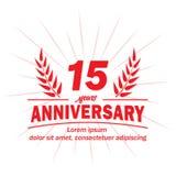 15o molde do projeto do aniversário 15os vetor e ilustração dos anos ilustração stock