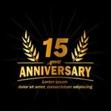 15o molde do projeto do aniversário 15os vetor e ilustração dos anos ilustração royalty free