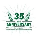 35o molde do projeto do aniversário 35os vetor e ilustração dos anos ilustração stock