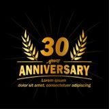 30o molde do projeto do aniversário 30os vetor e ilustração dos anos ilustração stock