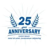 25o molde do projeto do aniversário 25os vetor e ilustração dos anos ilustração royalty free