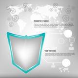 O molde do projeto do vetor de Infographics, ilustração do vetor pode ser usado para o design web Fotos de Stock Royalty Free