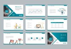 O molde do projeto para a apresentação do negócio com elementos infographic projeta ilustração do vetor