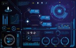 O molde e o elemento da relação da tela da inovação da tecnologia de Hud projetam o fundo ilustração do vetor