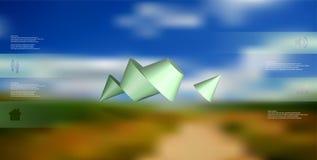 o molde infographic da ilustração 3D com dois cravou o cone dividido a quatro porções e arranjado obliquamente ilustração royalty free