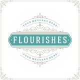 O molde luxuoso do logotipo floresce caligráfico Imagem de Stock Royalty Free