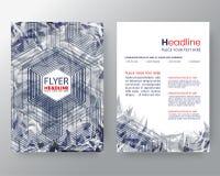 O molde moderno do projeto moderno abstrato do fundo do pixel pode ser usado para bandeiras do folheto no tamanho A4 ilustração do vetor
