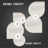 O molde passo a passo infographic mínimo no fundo textured Grunge, pode ser usado para o infographics, bandeiras do número, gráfi Fotografia de Stock