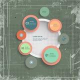 O molde passo a passo infographic mínimo no vintage textured o fundo Imagens de Stock Royalty Free