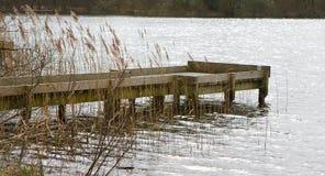 O molhe de madeira Imagem de Stock