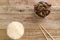O molho de soja chinês do alimento cozinhou a carne com anis de estrela Foto de Stock