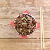 O molho de soja chinês do alimento cozinhou a carne com anis de estrela Imagens de Stock