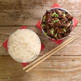 O molho de soja chinês do alimento cozinhou a carne com anis de estrela Foto de Stock Royalty Free