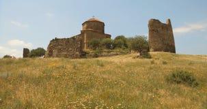 O monastério antigo Jvari, Mtskheta, Geórgia video estoque