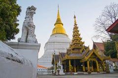 O monastério burmese do castelo Fotos de Stock Royalty Free