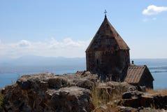 O monastério da ilha ou a ilha e o Sevanavank de Sevan Fotos de Stock Royalty Free