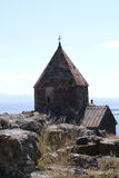 O monastério da ilha ou o Sevanavank (igreja) na ilha de Sevan Foto de Stock Royalty Free