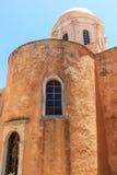 O monastério de Agia Triada na Creta fotografia de stock royalty free