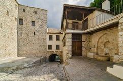 O monastério de Dionysiou, Monte Athos Foto de Stock