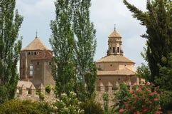 O monastério de Santa Maria de Poblet, Spain Fotografia de Stock