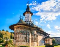 O monastério de Sucevita, Romênia imagens de stock royalty free